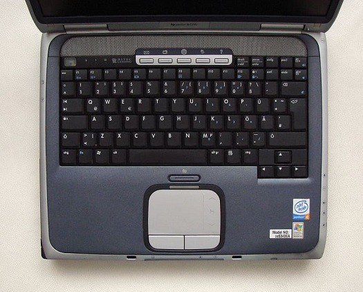 a very old Celeron laptop that is still operational but has passed it useful lifespan