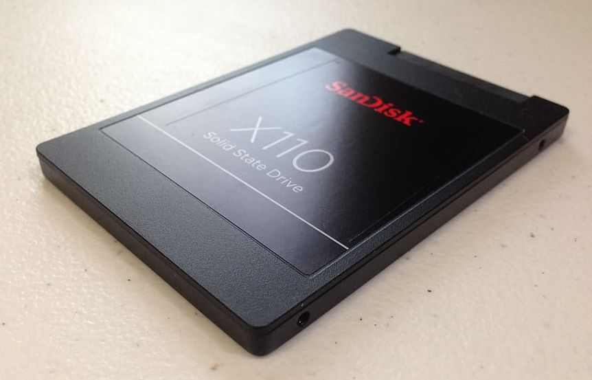 a Sandisk SSD