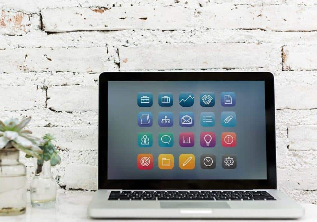 apps displayed on a laptop screen
