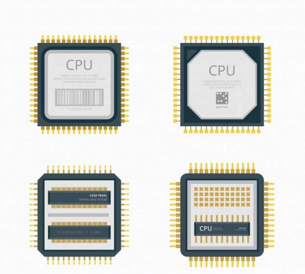 illustrated image of different type of CPU design architecture