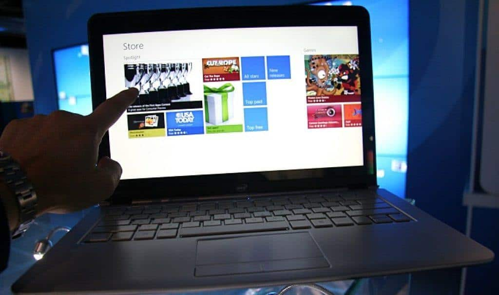 navigating intel ultrabook with touch screen technology